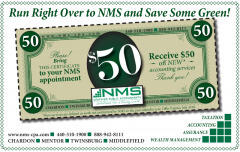 NMS-CPA, Inc. coupon for $50 off NEW accounting services