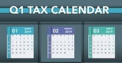 For Small Businesses: Deadlines on the 2019 Q1 Tax Calendar
