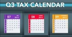 For Small Businesses: Q3 Tax Calendar Deadlines