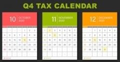 For Small Businesses: 2020 Q4 Tax Calendar